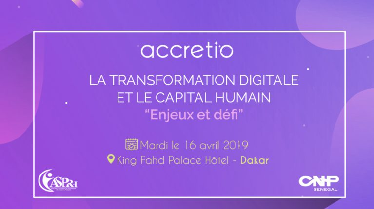 Accretio participates in the Forum of human resources professionals, April 16, 2019 in Dakar !
